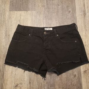 Free People Black Cut off Shorts, size 28